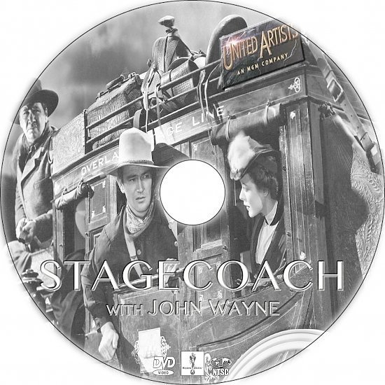 dvd cover Stagecoach (1939) R1 Custom DVD Labels