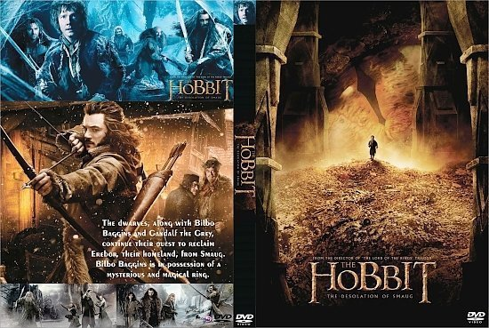 dvd cover The Hobbit: The Desolation of Smaug