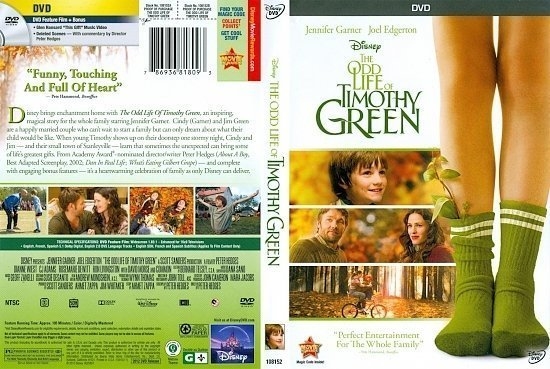dvd cover The Odd Life Of Timothy Green