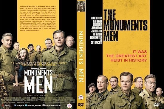 dvd cover The Monuments Men R0 Custom