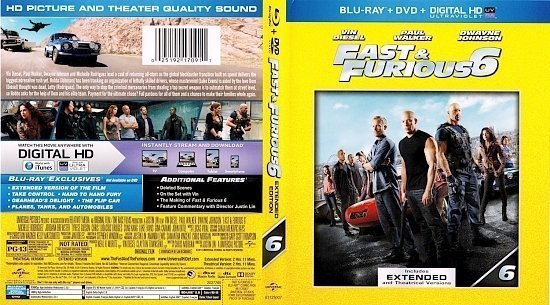 dvd cover Fast & Furious 6