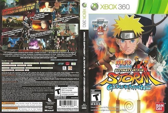 dvd cover Naruto Shippuden Ultimate Ninja Storm Generations English French NTSC f