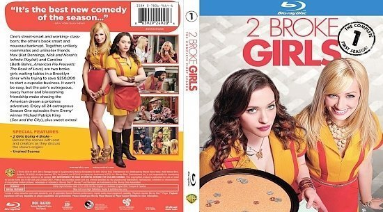 dvd cover 2 Broke Girls Season 1 Blu ray