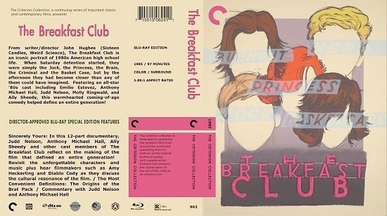 dvd cover The Breakfast Club The Criterion Collection