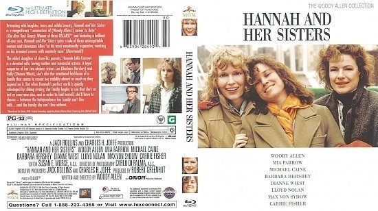 dvd cover Hannah And Her Sister