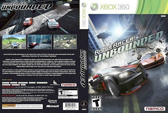 dvd cover Ridge Racer Unbounded NTSC f