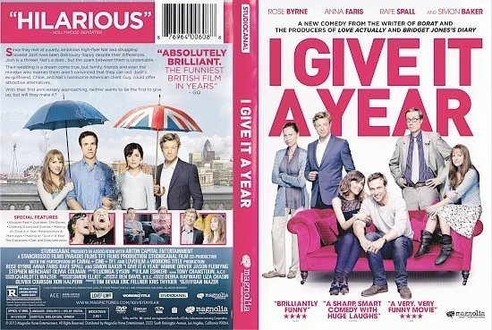 dvd cover I Give It A Year R1