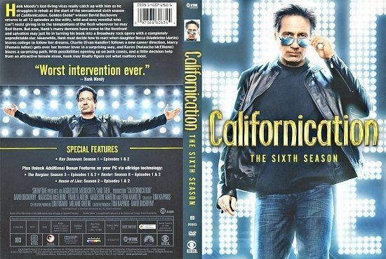 dvd cover Californication