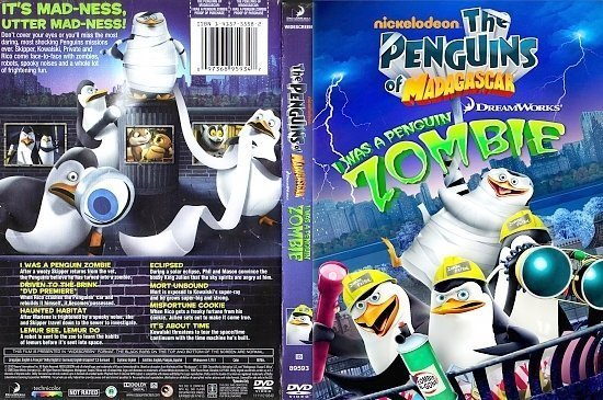 dvd cover The Penguins of Madagascar: I Was A Penguin Zombie (2009) R1