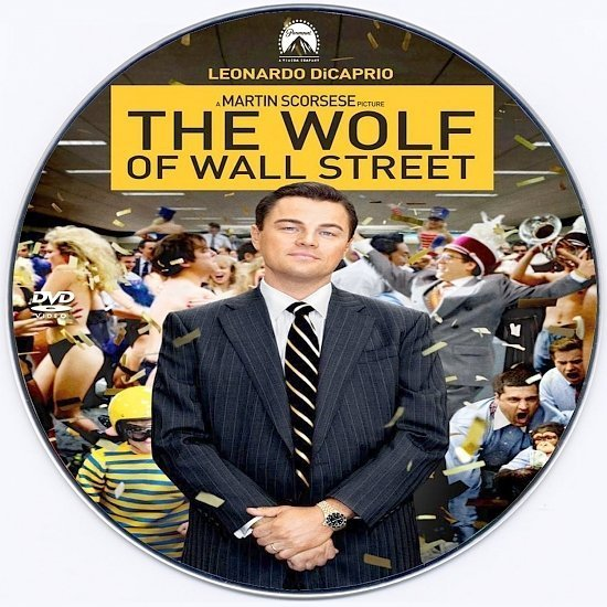 dvd cover The Wolf of Wall Street Custom CD Cover