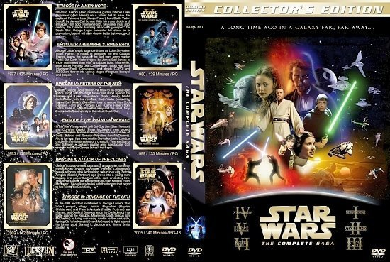 dvd cover Star Wars The Complete Saga