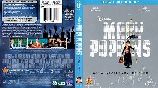 dvd cover Mary Poppins