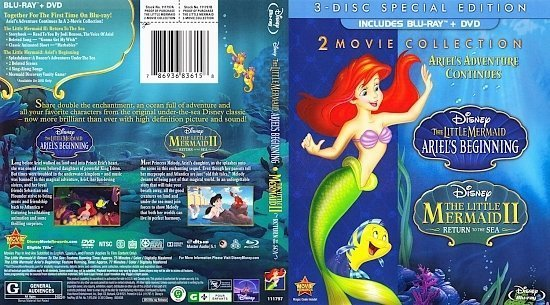 dvd cover Ariel's Adventures Continues