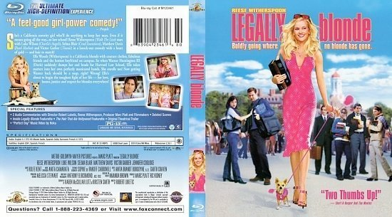 dvd cover Legally Blonde