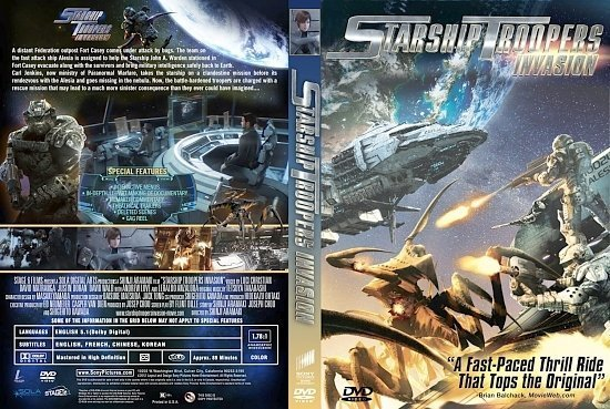 dvd cover Starship Troopers Invasion