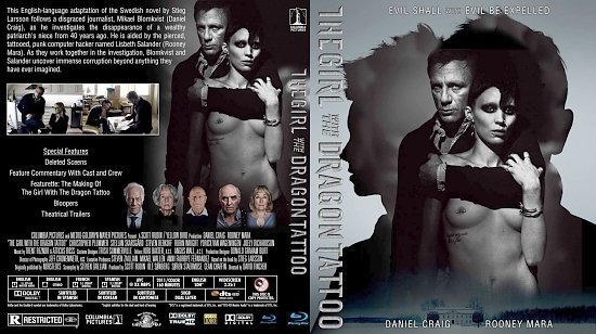 dvd cover The Girl With the Dragon Tattoo Bluray
