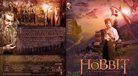 dvd cover The Hobbit An Unexpected Journey Bluray