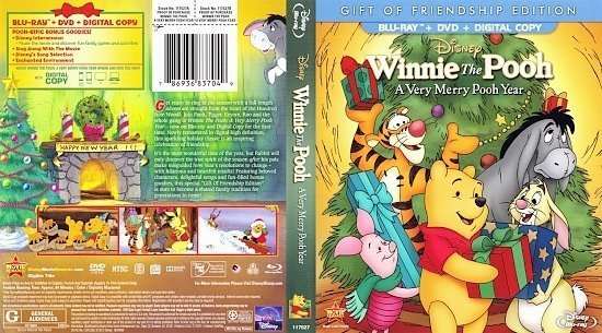 dvd cover A Very Merry Pooh Year