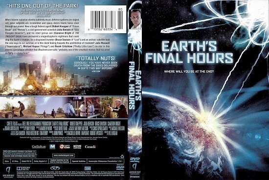 dvd cover Earth's Final Hours