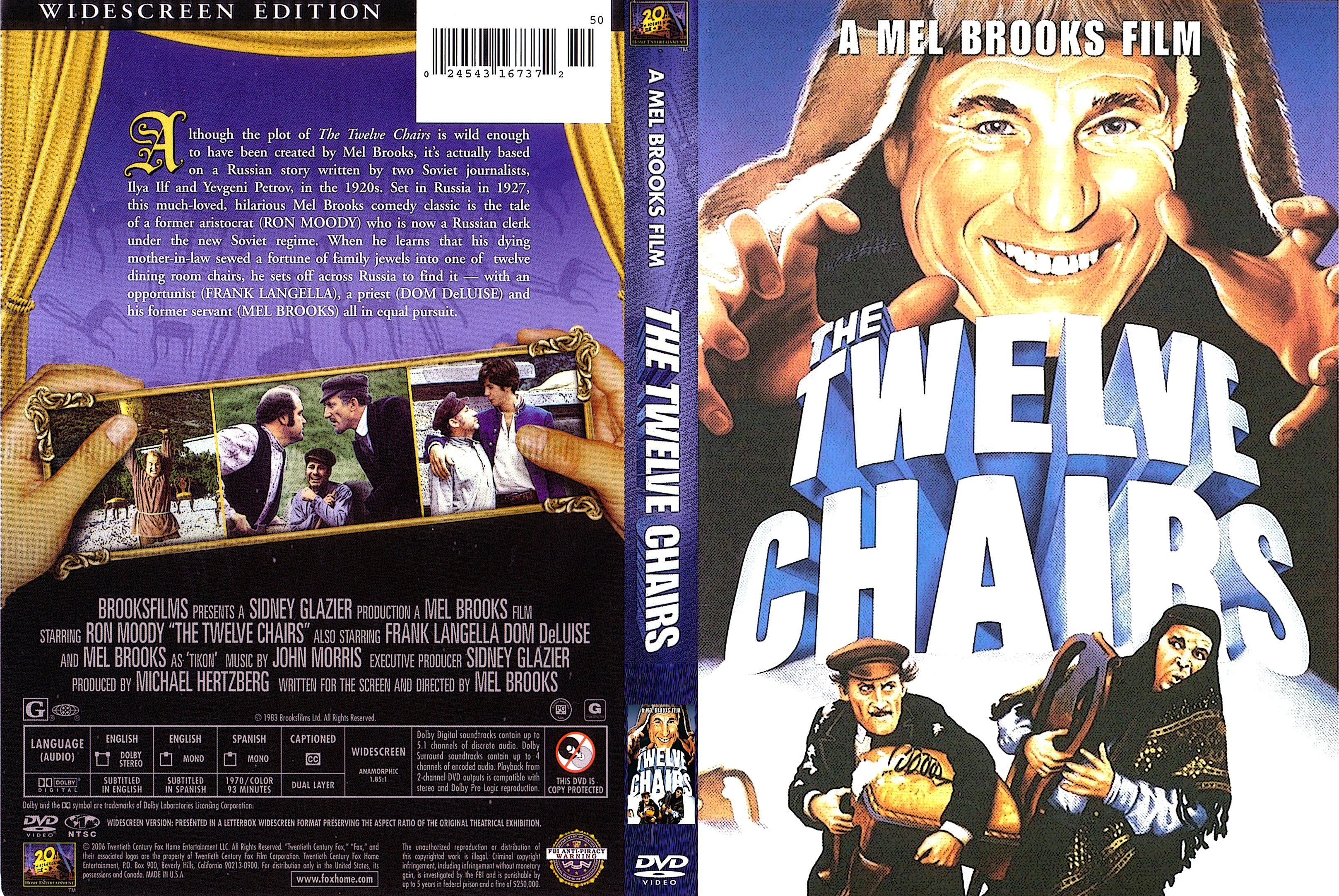 Frank langella the twelve chairs - Dvd Cover The Twelve Chairs 1970 R1