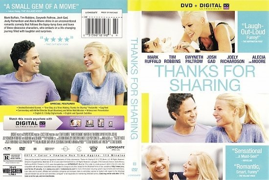 dvd cover Thanks For Sharing R1