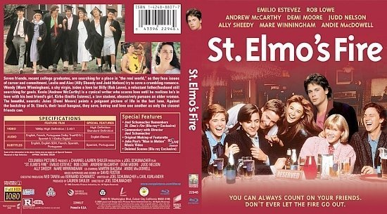 dvd cover St. Elmo's Fire