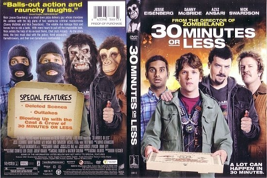 dvd cover 30 Minutes Or Less (2011) R1