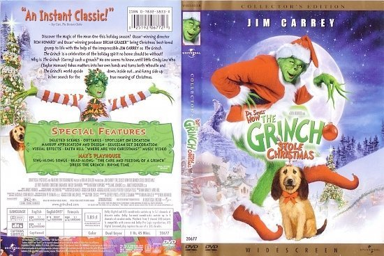 dvd cover How The Grinch Stole Christmas (2000) R1