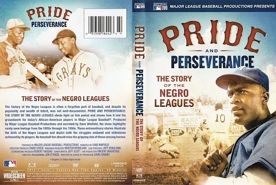 dvd cover PRIDE AND PERSEVERANCE: THE STORY OF THE NEGRO LEAGUES R1