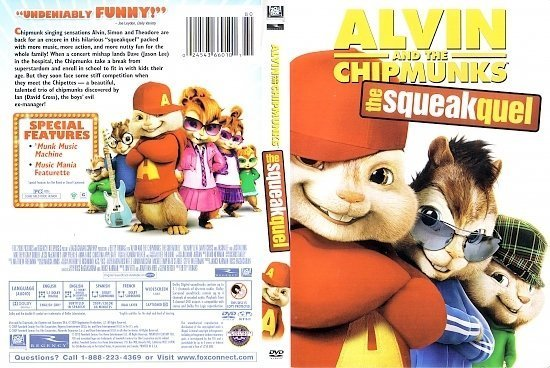 dvd cover Alvin And The Chipmunks: The squeakquel (2009) R1