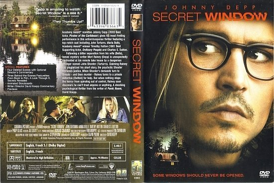 dvd cover Secret Window (2004) R1