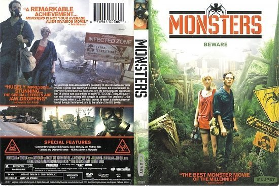 dvd cover Monsters (2010) R1