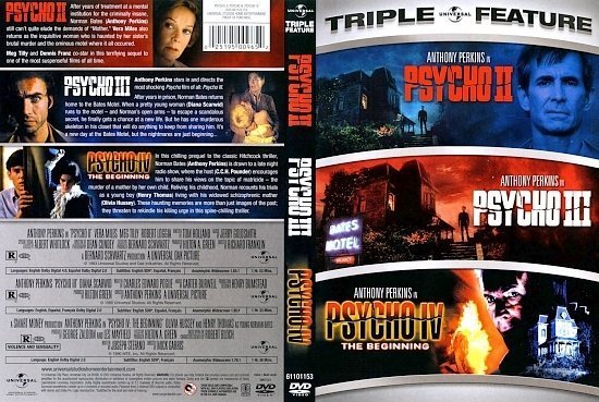 dvd cover Psycho II; Psycho III; Psycho IV: The Beginning (Triple Feature)