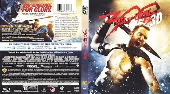 dvd cover 300 Rise Of An Empire 3D
