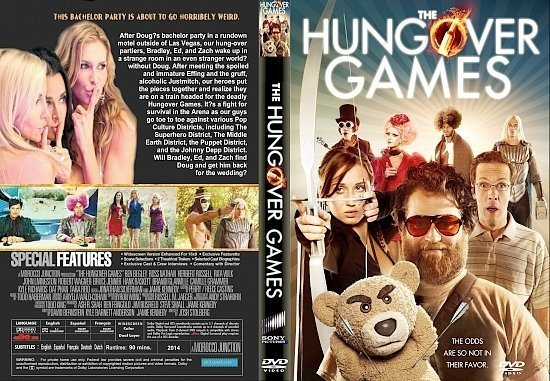 dvd cover The Hungover Games R1 CUSTOM