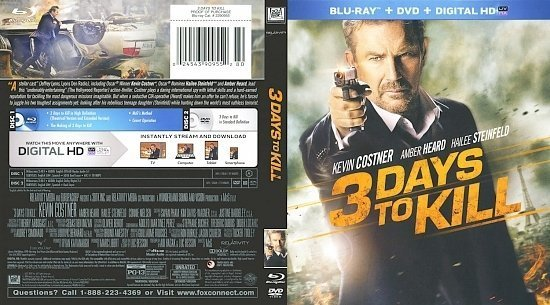dvd cover 3 Days To Kill