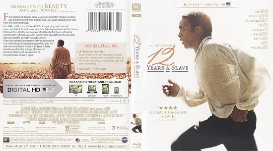 dvd cover 12 Years A Slave Scanned Bluray