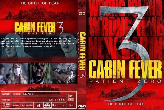 dvd cover Cabin Fever 3 Patient Zero R0 CUSTOM