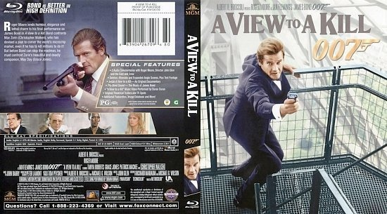 dvd cover A View To A Kill BR