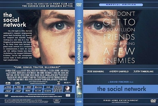 dvd cover The Social Network