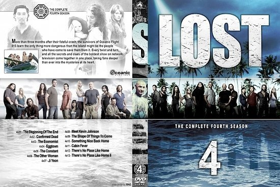 dvd cover Lost Season 4 Set