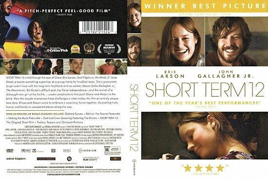 dvd cover Short Term 12 R1