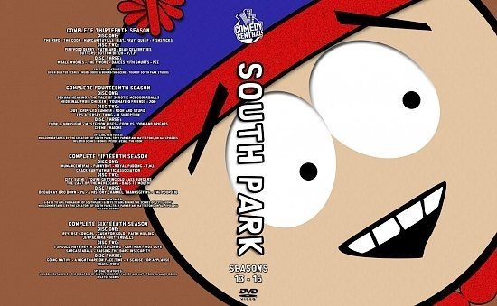 dvd cover South Park Seasons 13 16