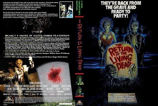 dvd cover The Return of the Living Dead
