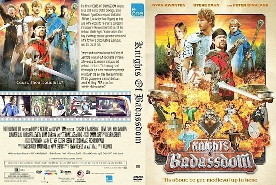 dvd cover Knights Of Badassdom Custom