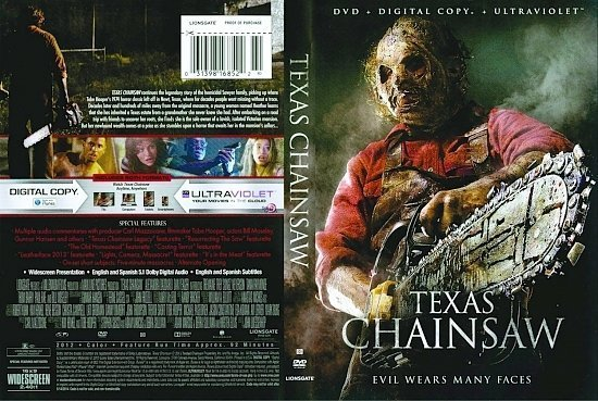 dvd cover Texas Chainsaw
