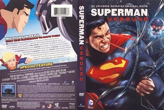 dvd cover Superman Unbound cover