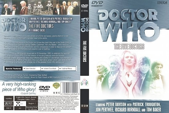 dvd cover Doctor Who The Five Doctors
