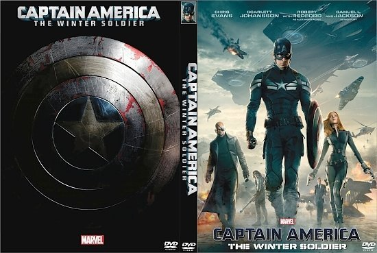 dvd cover Captain America: The Winter Soldier