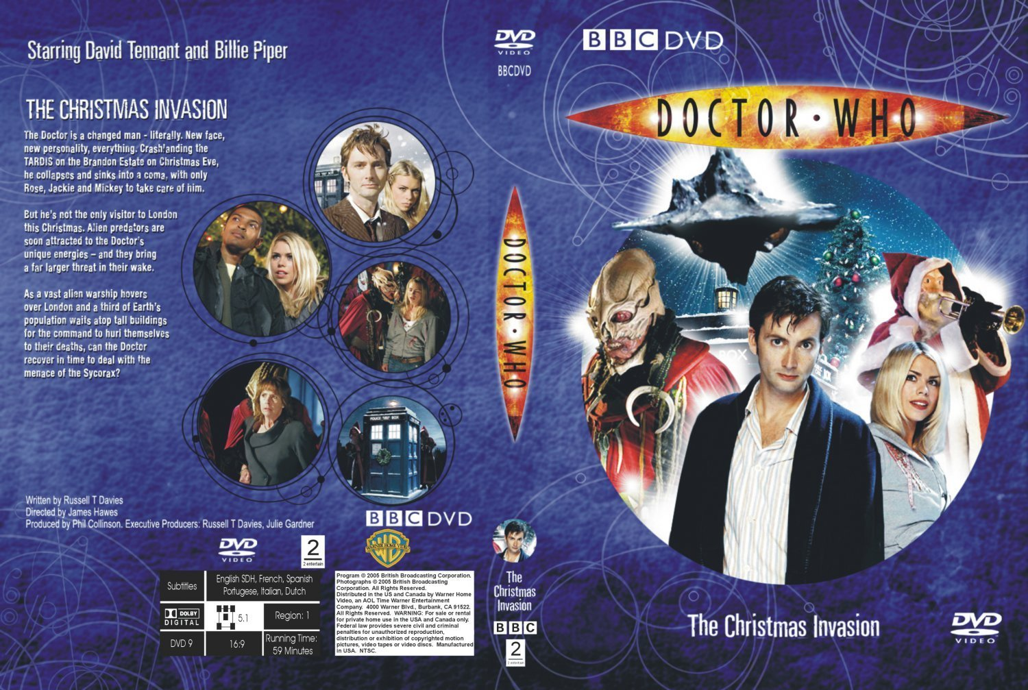 Doctor Who The Christmas Invasion.Doctor Who The Christmas Invasion Dvd Covers And Labels